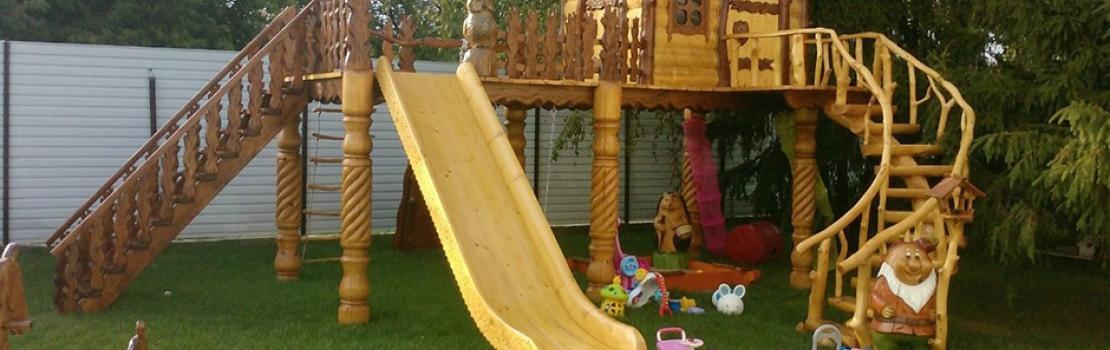 Частная детская площадка возле дома: сооружаем своими руками