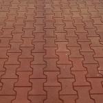 Брусчатка из резины Катушка на тротуаре