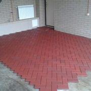 Резиновая плитка Кирпич на полу в гараже