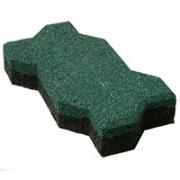 Зеленая брусчатка из резины Волна